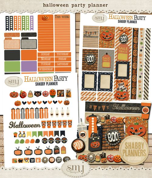 SMJ_Preview_Shabby_Planner_Halloween_Party_Planner_01