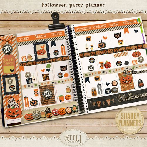 SMJ_Preview_Shabby_Planner_Halloween_Party_Planner_02